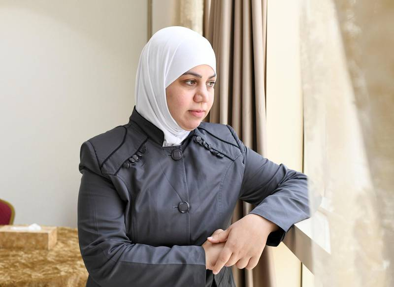 Lotus Training Centre-AD Hadeel Al Kadre, came 2 years ago from Syria and now teaches at the Lotus Holistic Retal Training Centre in the capital on June 20, 2021. Khushnum Bhandari/ The National Reporter: Haneen Dajani News