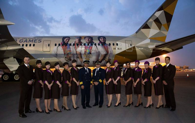The flight was flown by Captain Fouad Almarzouqi from the UAE, and Captain Spiridon Nakos from Greece. Courtesy Etihad
