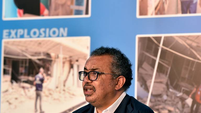 An image that illustrates this article 'No country in a crisis like Lebanon,' says WHO's Tedros in Beirut