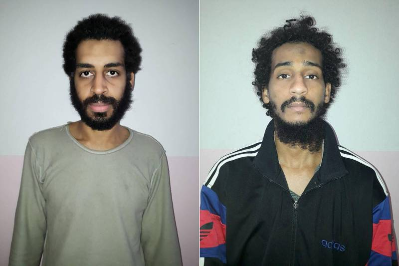 A combination picture shows Alexanda Kotey and Shafee Elsheikh, who the Syrian Democratic Forces (SDF) claim are British nationals, in these undated handout pictures in Amouda, Syria released February 9, 2018. Syrian Democratic Forces/Handout via REUTERS  ATTENTION EDITORS - THIS IMAGE HAS BEEN SUPPLIED BY A THIRD PARTY      TPX IMAGES OF THE DAY
