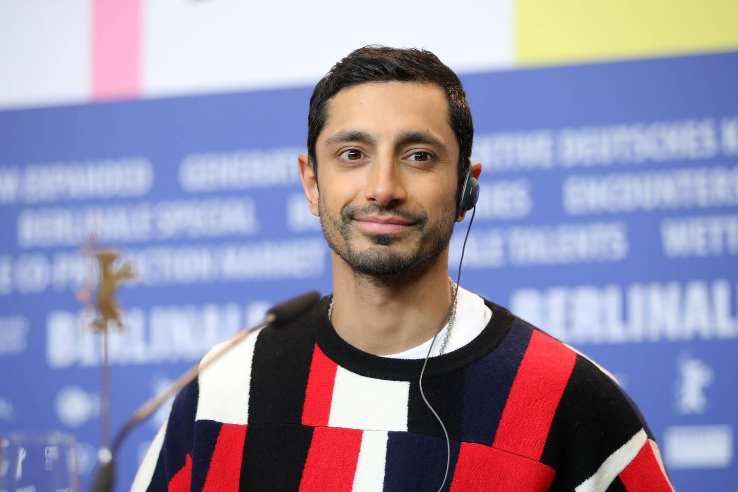 """BERLIN, GERMANY - FEBRUARY 21: Riz Ahmed is seen at the """"Mogul Mowgli"""" press conference during the 70th Berlinale International Film Festival Berlin at Grand Hyatt Hotel on February 21, 2020 in Berlin, Germany. (Photo by Andreas Rentz/Getty Images)"""