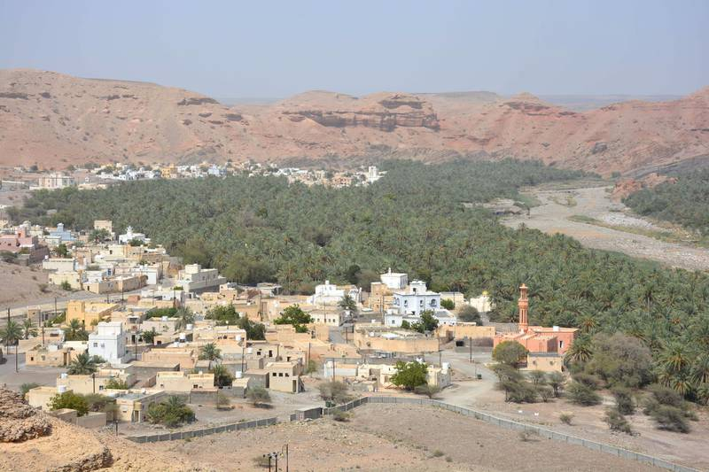 Aerial view of Quriyat town in Muscat. Saleh Al Shaibany for The National
