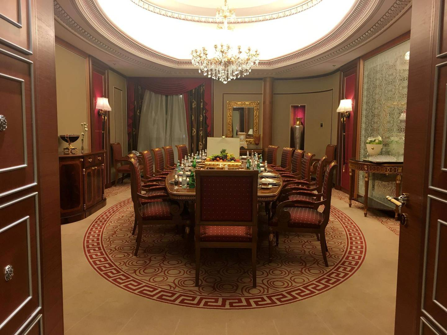 FILE PHOTO: A view shows part of the suite where Saudi Arabian billionaire Prince Alwaleed bin Talal has been detained, at the Ritz-Carlton in Riyadh, Saudi Arabia January 27, 2018, REUTERS/Katie Paul/File Photo