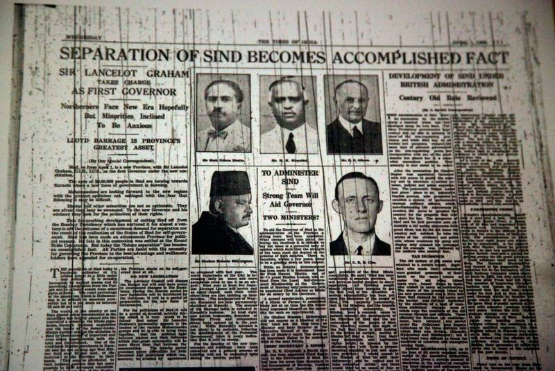In this Aug. 12, 2017 photo, an old newspaper clipping from the Times of India before the division of British India, hangs on the wall of the Partition Museum that is set to open later this week in Amritsar, India, 32 kilometres (20 miles) from border with Pakistan. India's first partition museum tells the stories of those who survived the chaos and bloodshed 7 decades ago. (AP Photo/Rishabh R. Jain)