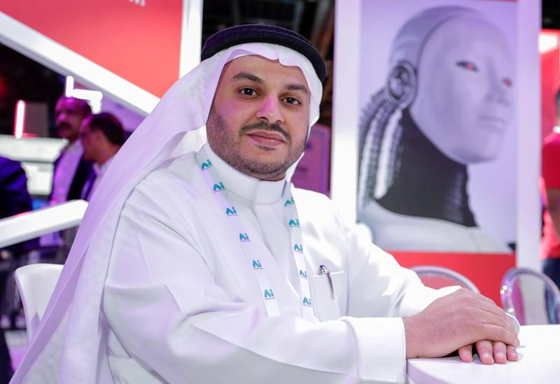 Dubai, April 30, 2019.  Ai Everything show at the Dubai World Trade Centre.--  Dr. Hatem Bugshan, Head of Big Innovation Middle East.Victor Besa/The NationalSection:  NAReporter:   Alkesh Sharma
