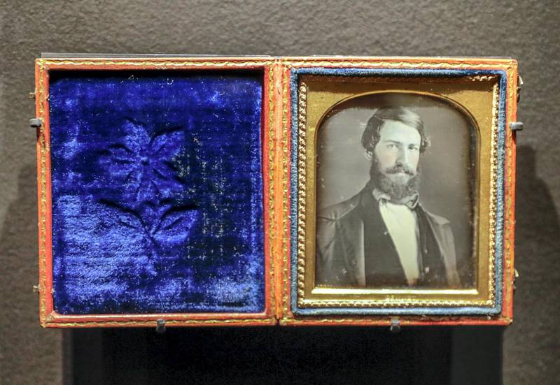 Abu Dhabi, April 23, 2019.    Photographs 1842-1896:  An early album of the world at Louvre Abu Dhabi.  -- John Armstrong Bennet (1816-1900)Portrait of a manColombia, 1848-50DaguerreotypeParis, musée du quai Branly-Jacques ChiracVictor Besa/The National Section:  Arts & LifeReporter:  Melissa Gronlund