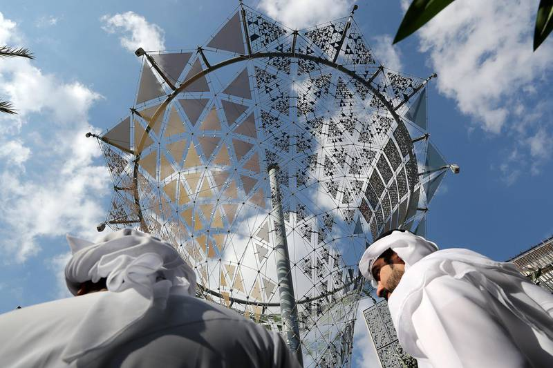 DUBAI , UNITED ARAB EMIRATES, Jan 13  – 2020 :- Visitors at the Invention centre at the Expo 2020 House of Volunteers office in Dubai.(Pawan Singh / The National) For News. Story by Ramola