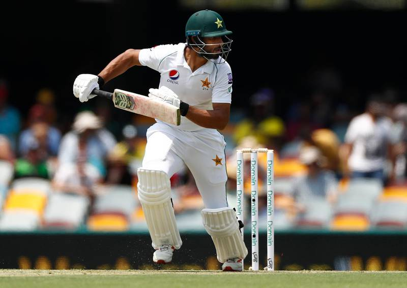 BRISBANE, AUSTRALIA - NOVEMBER 21: Shan Masood of Pakistan bats during day one of the 1st Domain Test between Australia and Pakistan at The Gabba on November 21, 2019 in Brisbane, Australia. (Photo by Ryan Pierse/Getty Images)
