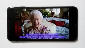 Coronavirus: Queen Elizabeth II joins first official video call