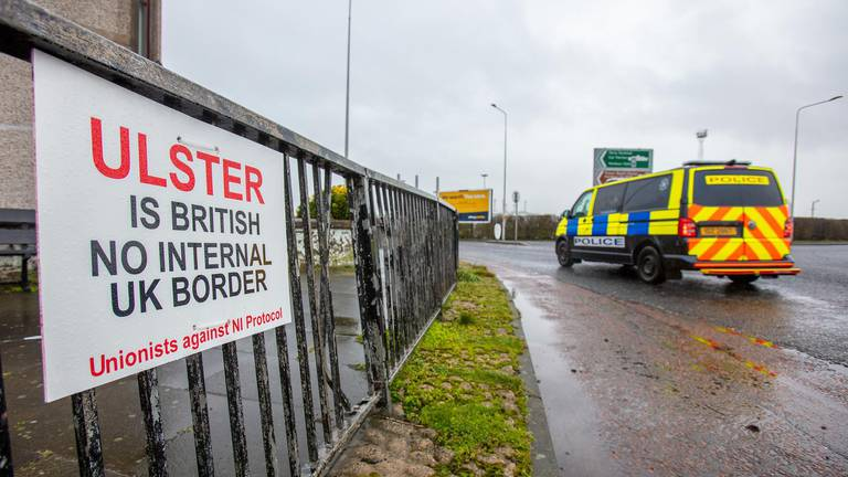 An image that illustrates this article Britain to start tense talks with EU as two arrested near Northern Irish port