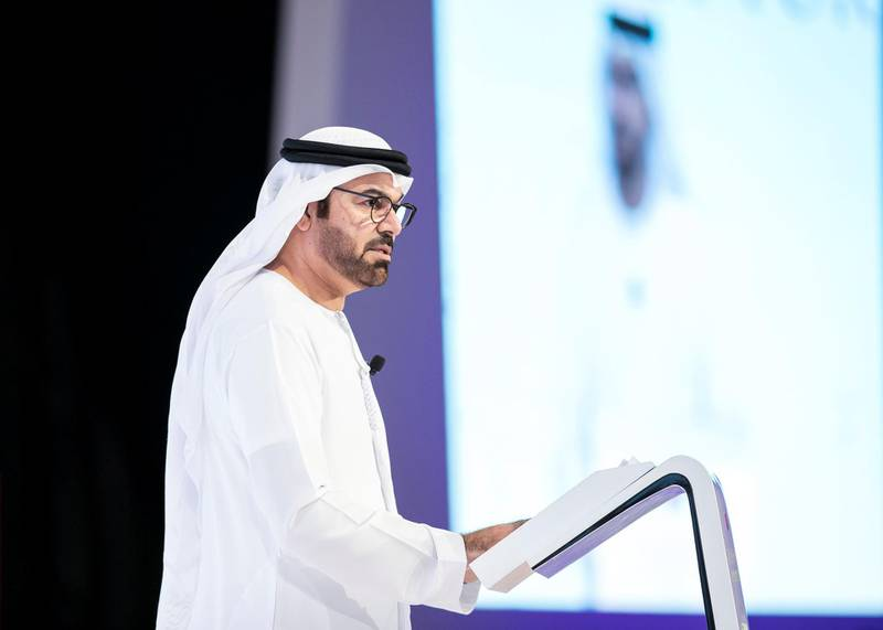 DUBAI, UNITED ARAB EMIRATES. 9 DECEMBER 2019. H.E. Mohammad Al Gergawi, President of the Arab Strategy Forum, under the theme Forecasting the Next Decade 2020 - 2030.(Photo: Reem Mohammed/The National)Reporter:Section: