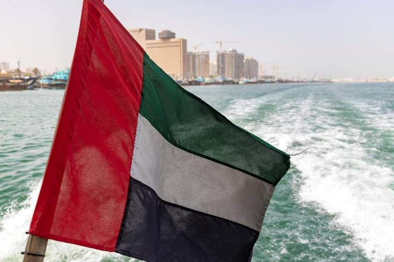 Dubai & Sharjah, United Arab Emirates - July 28, 2019: New Dubai-Sharjah commuter ferry is launched. Sunday the 28th of July 2019. Chris Whiteoak / The National