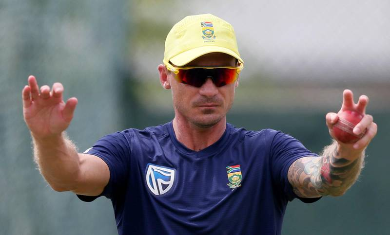 FILE PHOTO: Cricket - Sri Lanka v South Africa - South Africa Team's Practice Session - Colombo, Sri Lanka - July 19, 2018 - South Africa's fast bowler Dale Steyn stretches during a practice session ahead of their second test cricket match against Sri Lanka. REUTERS/Dinuka Liyanawatte/File Photo