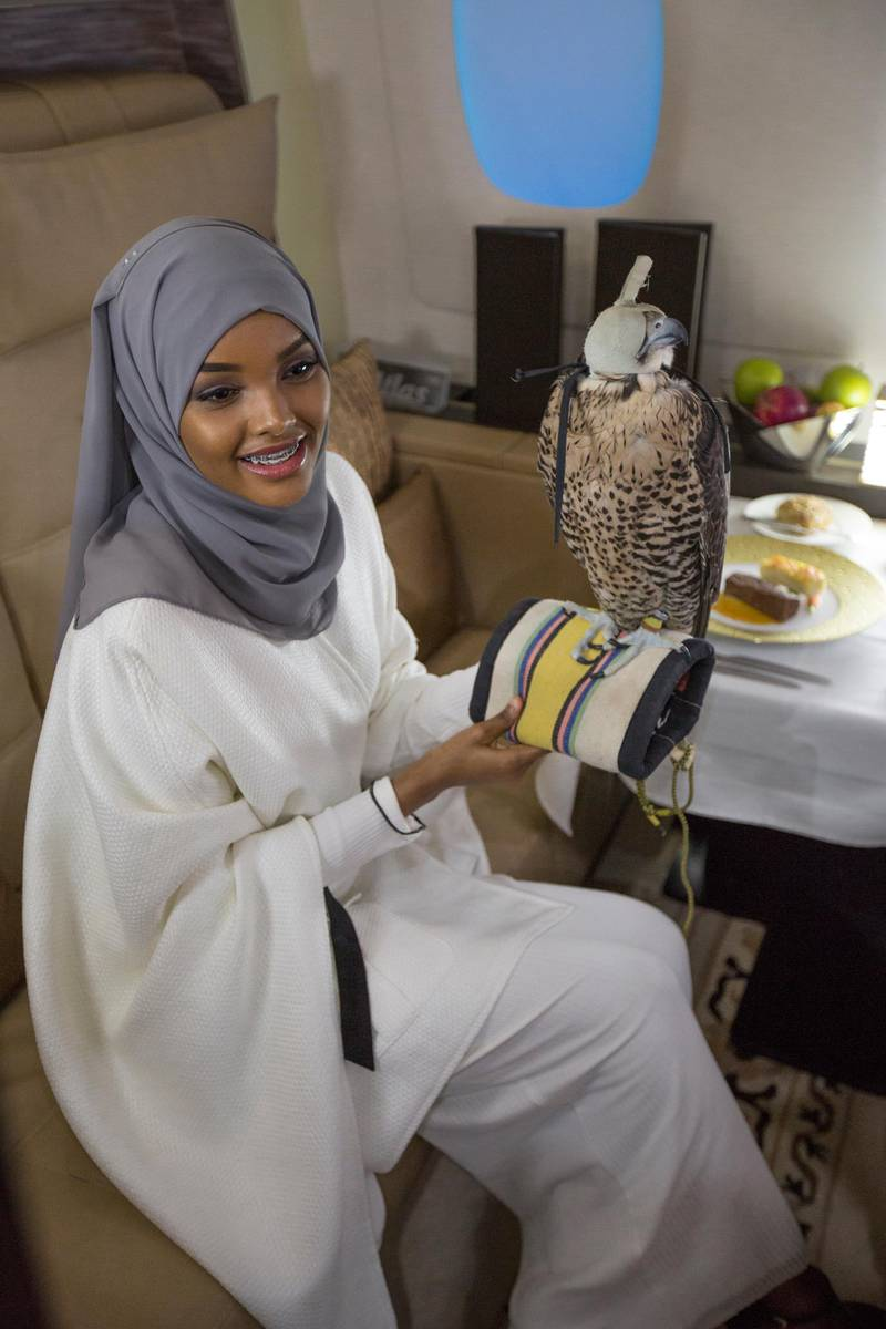 Handouts of model Halima Aden in Abu Dhabi with Ethihad Airways *** Local Caption ***  AL28 ADU gallery Halima_PHOTO3 PHOTO2.jpg