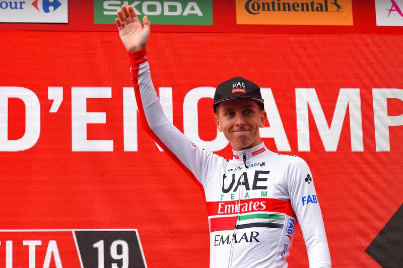 Vuelta Espana 2019 - 74th Edition - 9th stage Andorra la Vella - Cortals dÕEncamp 94,4 km - 01/09/2019 - Tadej Pogacar (SLO - UAE - Team Emirates) - photo Dario Belingheri/BettiniPhoto©2019