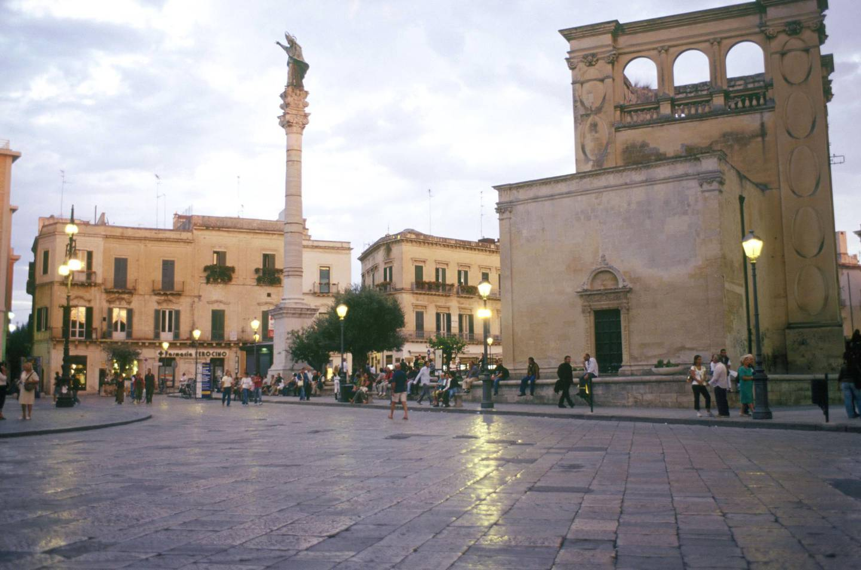Jan. 08, 2013 - Italy, Apulia, Lecce, piazza Sant'Oronzo and Seggio San Marco palace at dusk (Credit Image: © TIPS/ZUMAPRESS.com) *** Local Caption ***  wk03ap-tr-mkop-lecce.jpg