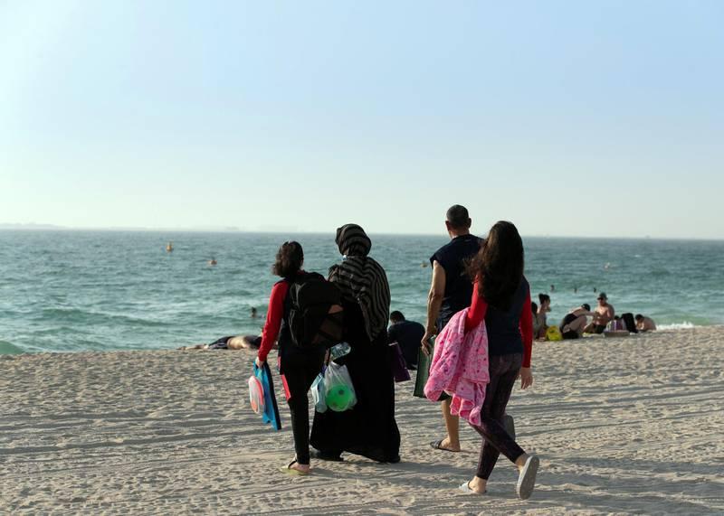 DUBAI, UNITED ARAB EMIRATES. 2 AUGUST 2020. Kite beach.(Photo: Reem Mohammed/The National)Reporter:Section: