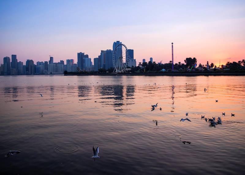 SHARJAH, UNITED ARAB EMIRATES. 11 DECEMBER 2020. Khalid Lake in Sharjah.(Photo: Reem Mohammed/The National)Reporter:Section: