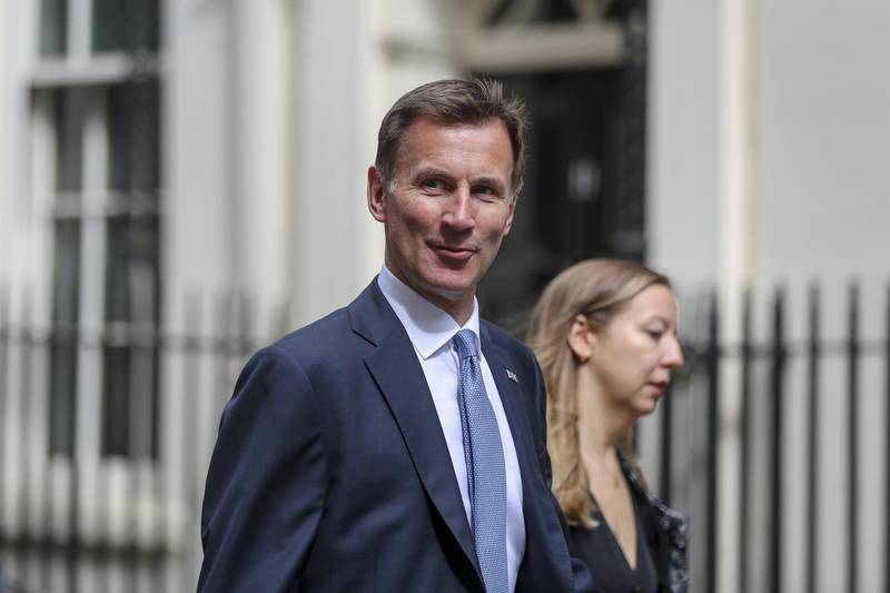 Jeremy Hunt, U.K. foreign secretary, arrives at number 10 Downing Street in London, U.K., on Monday, July 22, 2019. Prime MinisterTheresa Maywill lead a meeting of the U.K. government's emergency committee on Monday to discuss the security of shipping in the Persian Gulf after Iran seized a British oil tanker in the Strait of Hormuz last week. Photographer: Simon Dawson/Bloomberg