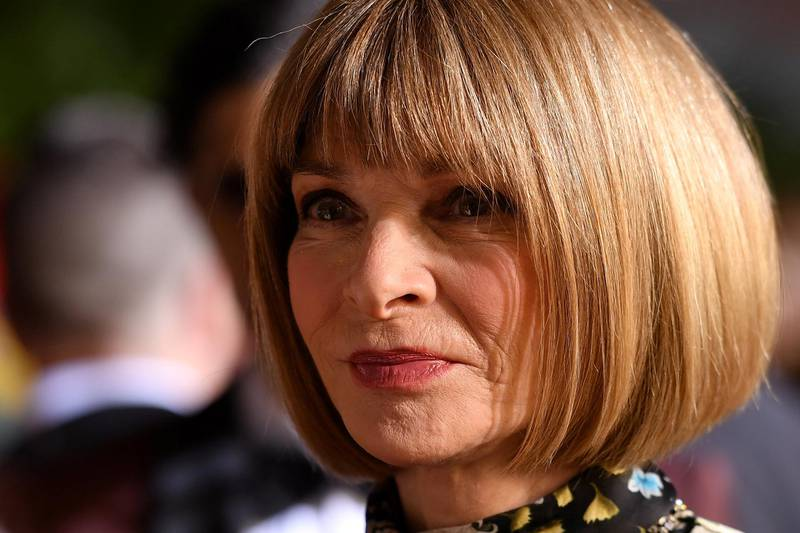 Vogue Editor-in-Chief Anna Wintour speaks to a journalist as she attend the 73rd Annual Tony Awards at Radio City Music Hall on June 9, 2019 in New York City. (Photo by Angela Weiss / AFP)