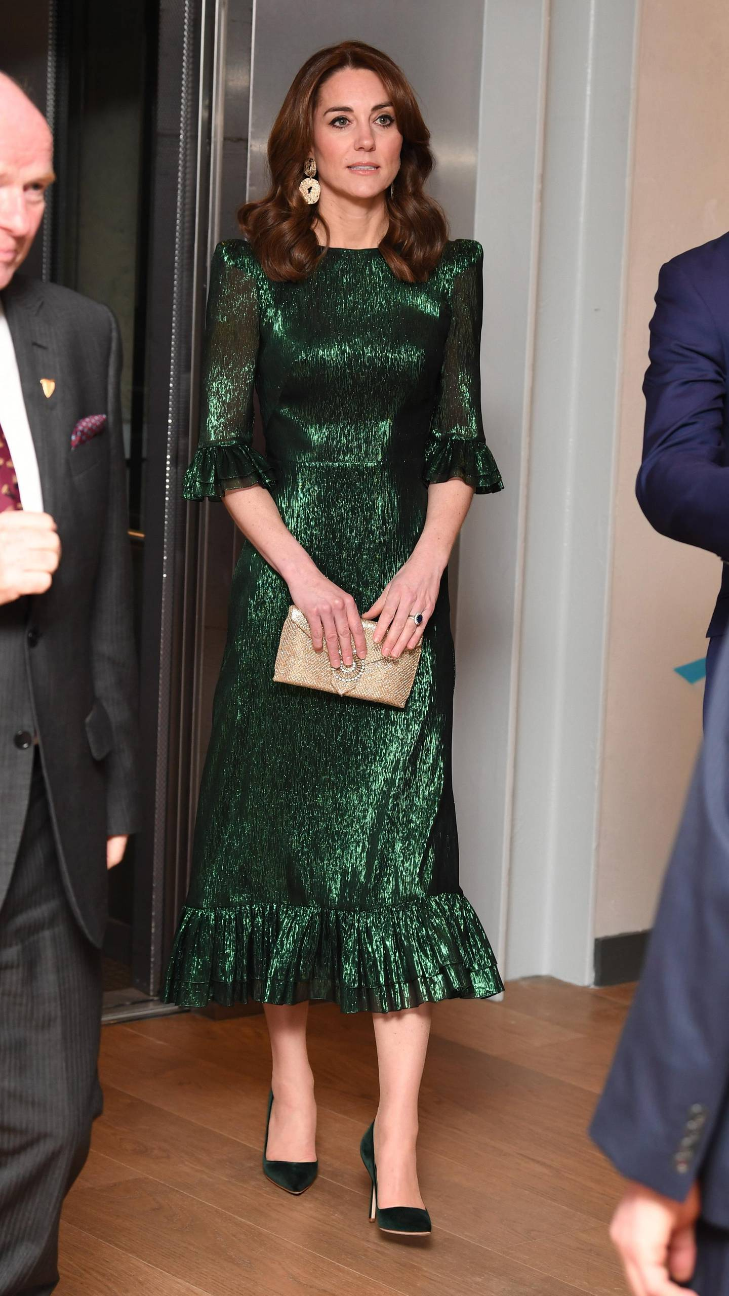 epa08268067 The Duchess of Cambridge attends a reception at the Guinness Storehouse's Gravity Bar, hosted by the British Ambassador to Ireland in Dublin, Ireland 03 March 2020.  EPA-EFE/JAMES WHATLING / POOL