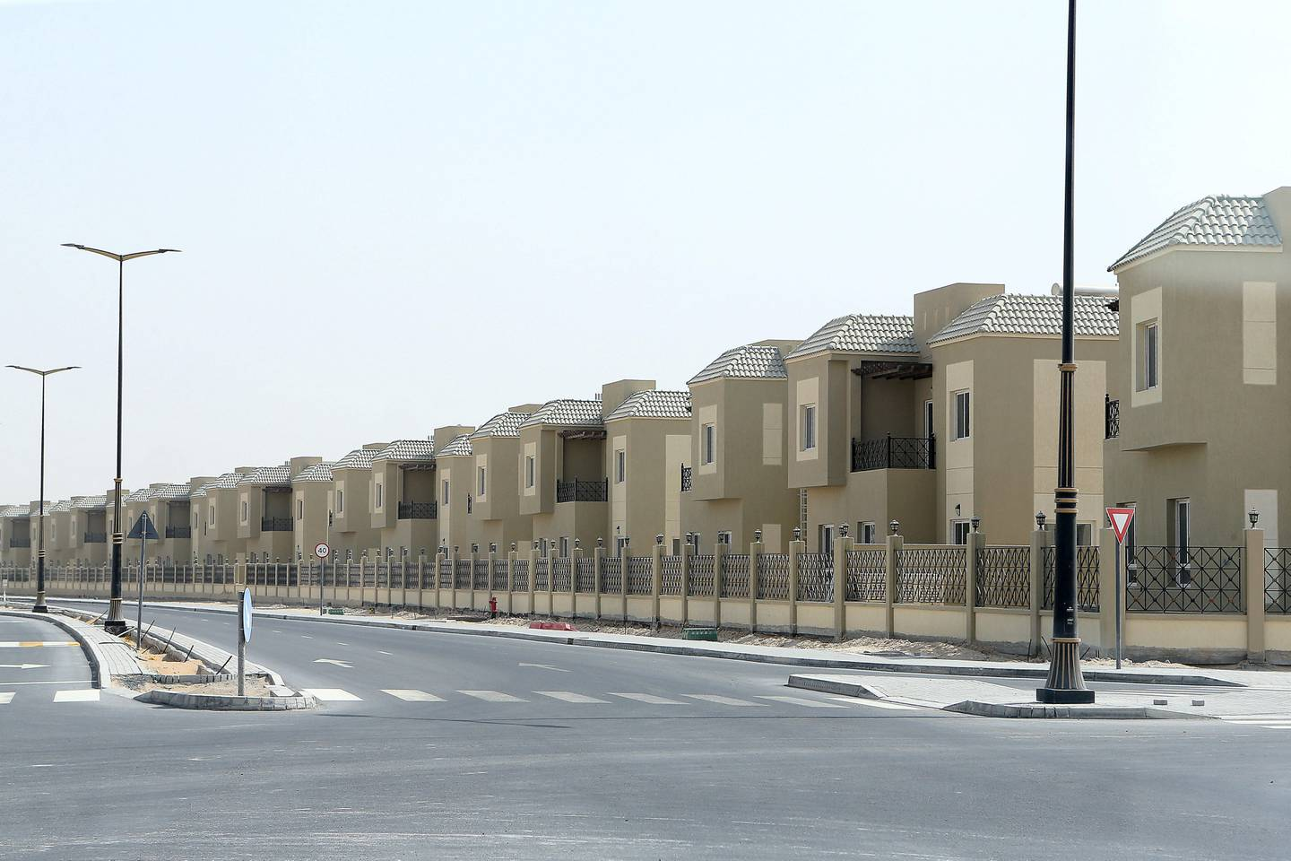 DUBAI , UNITED ARAB EMIRATES , AUG 14 – 2017 :- View of the villas at the Living Legends residential area in Dubai. ( Pawan Singh / The National ) Story by Nick Webster