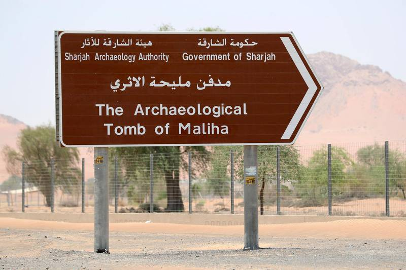 Sharjah, United Arab Emirates - July 10, 2019: Weekend's postcard section. The Mleiha Archaeological Centre. Wednesday the 10th of July 2019. Maleha, Sharjah. Chris Whiteoak / The National