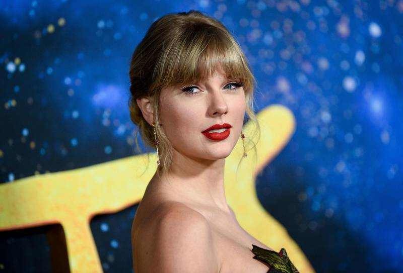 """FILE - Singer-actress Taylor Swift attends the world premiere of """"Cats"""" in New York on Dec. 16, 2019. A concert film featuring Taylor Swift performing songs from her new album is coming to Disney+. The singer announced Tuesday that """"folklore: the long pond studio sessions"""" will premiere on the streaming platform on Wednesday.  (Photo by Evan Agostini/Invision/AP, File)"""