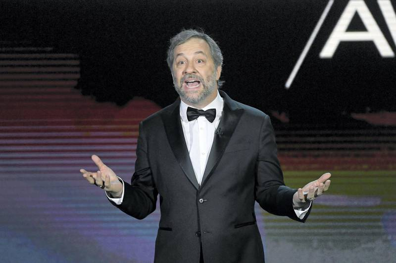 LOS ANGELES, CALIFORNIA - JANUARY 25: Judd Apatow speaks onstage during the 72nd Annual Directors Guild Of America Awards at The Ritz Carlton on January 25, 2020 in Los Angeles, California. (Photo by Kevork Djansezian/Getty Images)