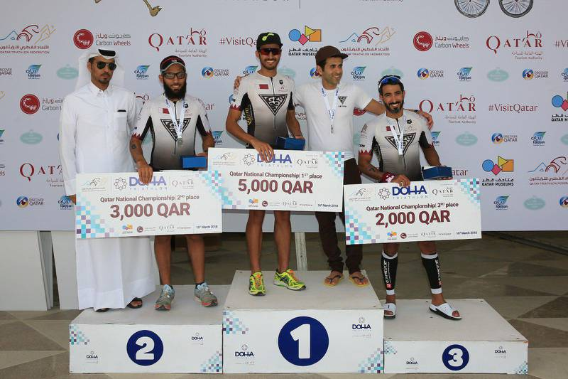 A photo posted on Doha Triathlon Twitter page.