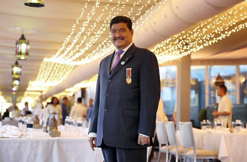 ABU DHABI , UNITED ARAB EMIRATES , JUNE 10 – 2018 :- B R Shetty , Chairman of NMC Healthcare , Chairman of UAE Exchange during the Mubadala Iftar held at the Rosewood hotel in Abu Dhabi.  ( Pawan Singh / The National )  For News.