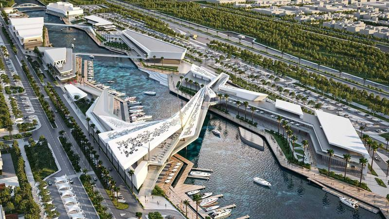 Al Qana - aerial. Courtesy Department of Urban Planning and Municipalities and Al Barakah International Investment