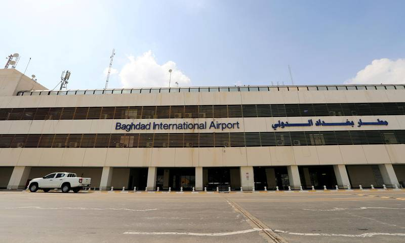 FILE PHOTO: A view of  Baghdad international Airport, after Iraq has suspended flights at its domestic airports as the coronavirus spreads, in Baghdad, Iraq March 17, 2020. REUTERS/Thaier Al-Sudani/File Photo