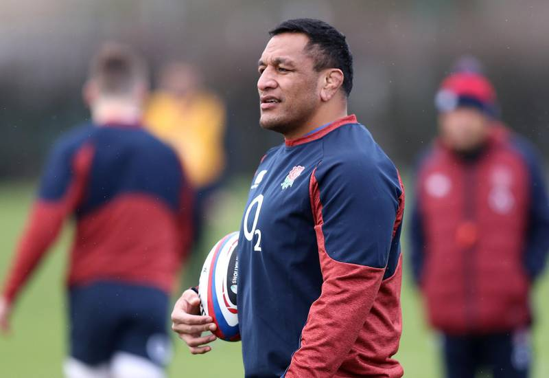 LONDON, ENGLAND - FEBRUARY 13:   Mako Vunipola attends an England rugby training session held at the Kensington Latymer Upper School on February 13, 2020 in London, England. (Photo by David Rogers/Getty Images)