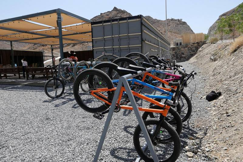 FUJAIRAH, UNITED ARAB EMIRATES , March 23, 2021 – View of the Cycle shop at the Fujairah Adventures Park in Fujairah. (Pawan Singh / The National) For Instagram/Online/ Lifestyle. Story by Janice Rodrigues