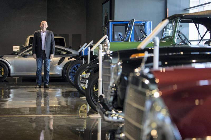Dubai, United Arab Emirates, November 20, 2017:    Mazin Al Khatib, CEO of Nostalgia Classic Cars at Alserkal Avenue in the Al Quoz area of Dubai on November 20, 2017. Christopher Pike / The NationalReporter: James LangtonSection: News