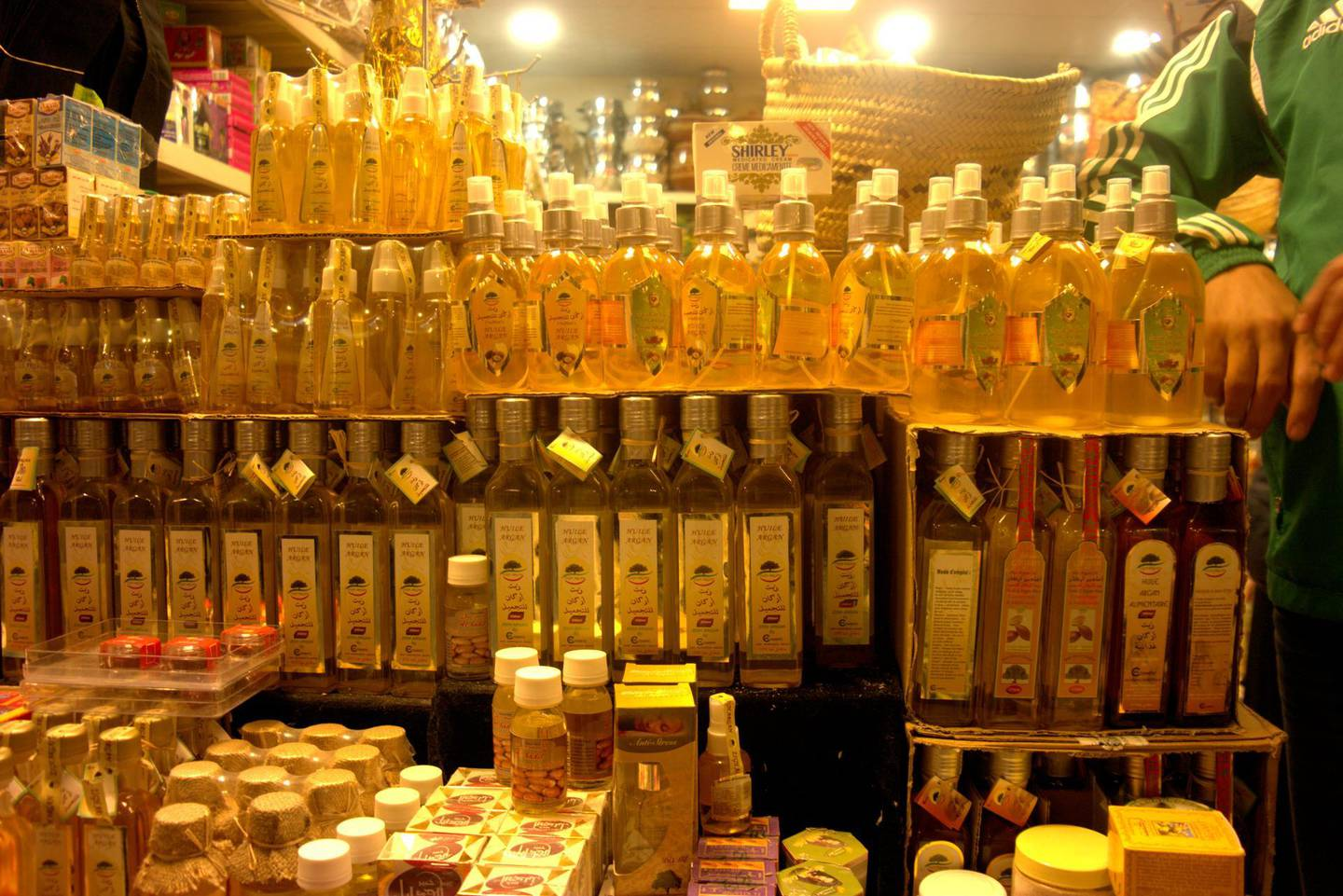 Jan 31, 2017 - Argan oil at the Morocco pavilion at Global Village. Photo by Aarti Jhurani *** Local Caption ***  Argan oil at the Morocco pavillion at Global Village. Aarti Jhurani.jpg