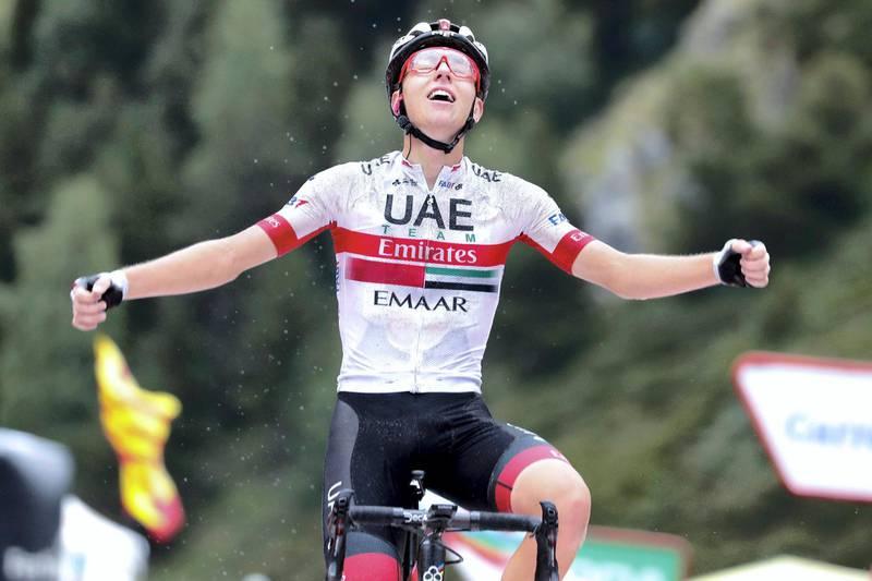 Vuelta Espana 2019 - 74th Edition - 9th stage Andorra la Vella - Cortals d'Encamp 94,4 km - 01/09/2019 - Tadej Pogacar (SLO - UAE - Team Emirates) - photo Luis Angel Gomez/BettiniPhoto©2019
