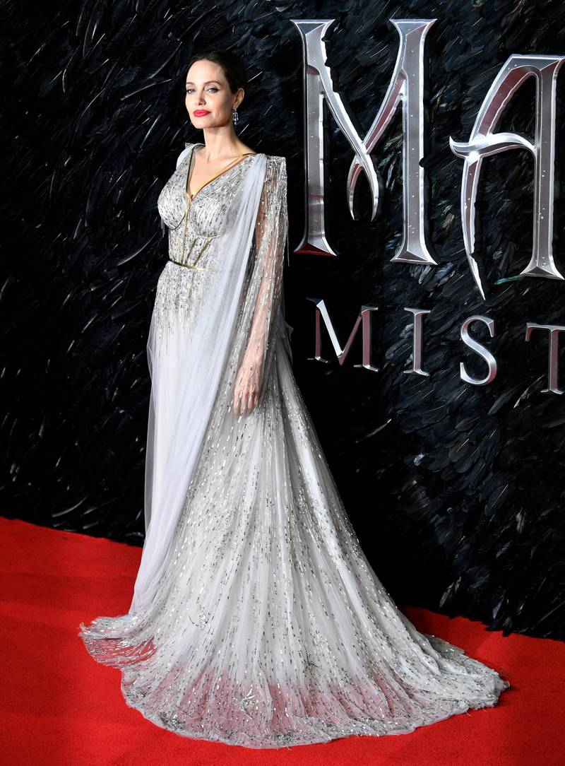 epa07908454 US actress/cast member Angelina Jolie attends the UK premiere of 'Maleficent: Mistress of Evil' in London, Britain, 09 October 2019. The film will be released in the UK on 18 October.  EPA-EFE/NEIL HALL