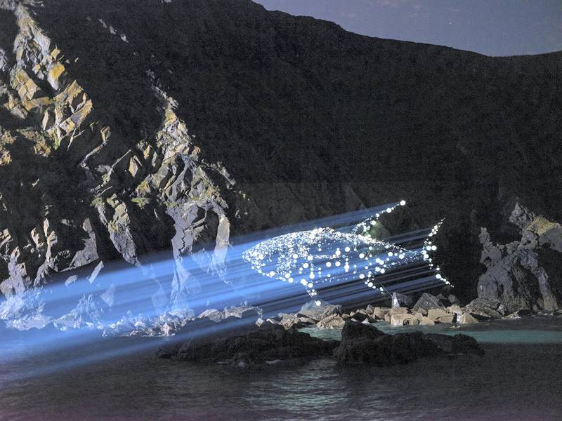 Stills from the Greenpeace video - 300 drones, 1 message: Act Now The video is a message to world leaders attending the G7 summit in Cornwall, UK 11th, 12th, 13th June 2021, asking them to take climate issues seriously and to 'Act Now'