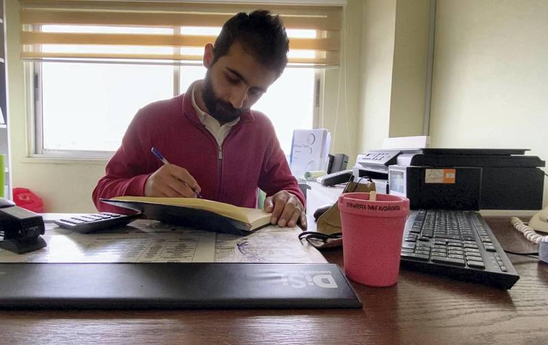 Laith Tantawi, an Arabic teacher at the Misbah Centre, says less students are travelling to Jordan to learn Arabic. Amy McConaghy / The National