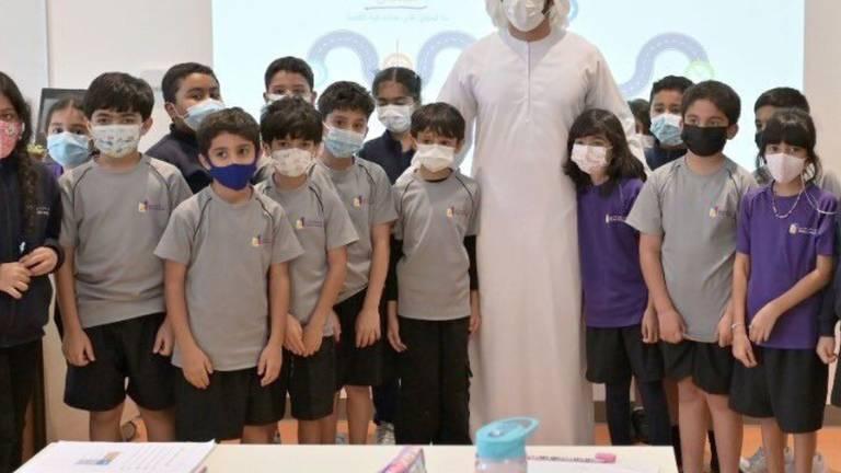 An image that illustrates this article Watch as Sheikh Hamdan meets school children in Dubai
