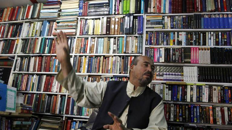 An image that illustrates this article The bookseller of Kabul on why he refuses to shut up shop: 'I want to preserve history'