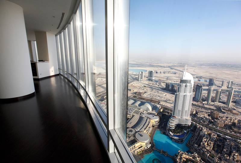 Dubai, United Arab Emirates- December 05,2010 ;  A view of four bedroom apartment  at the World's tallest  building Burj Khalifa in Dubai.  ( Satish Kumar / The National ) For Personal Finance