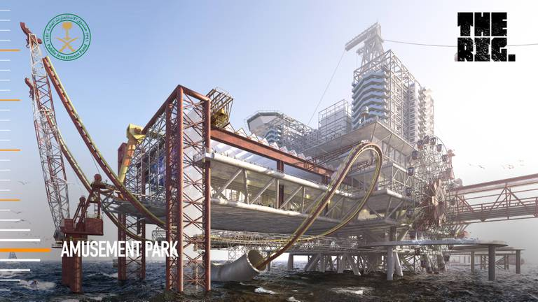 An image that illustrates this article Saudi Arabia to build hotel and theme park resort on oil platform