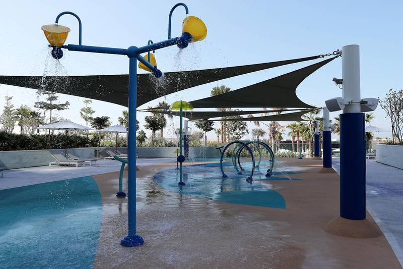 DUBAI, UNITED ARAB EMIRATES , December 24 – 2020 :-  View of the kids play area at the Address Beach Resort near Jumeirah Beach Residences in Dubai. ( Pawan Singh / The National ) For Lifestyle. Story by Janice