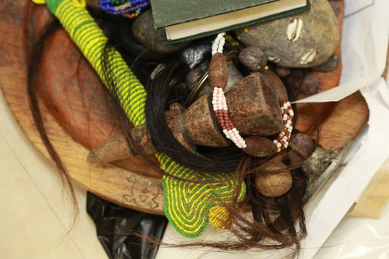 Dubai – 15 February 2015: Dubai Customs inspectors at Dubai International Airport foiled 155 attempts of smuggling talismans and black magic items over the recent period of time. Nearly 10,000 articles – weighing 97 Kg – associated with the practice of witchcraft and sorcery were seized with passengers form different nationalities caught trying to smuggle them into the country through Dubai International Airport. Courtesy Dubai Customs