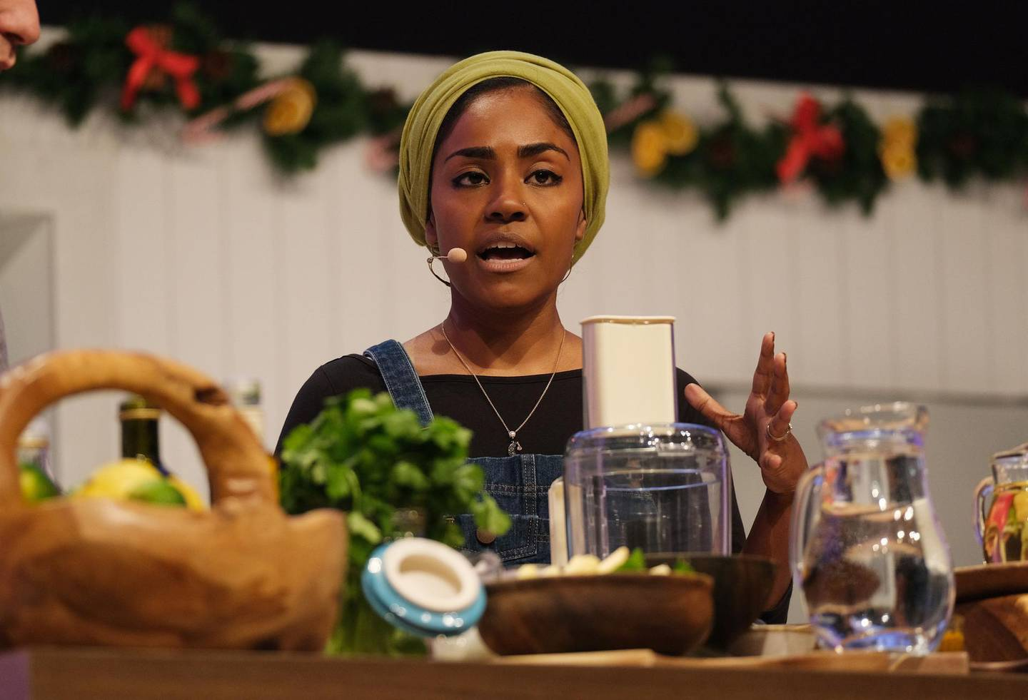 BIRMINGHAM - NOVEMBER 29: Nadiya Hussain at the BBC Good Food Show Winter 2019 held at the NEC on November 28, 2019 in England. (Photo by MelMedia/Getty Images)