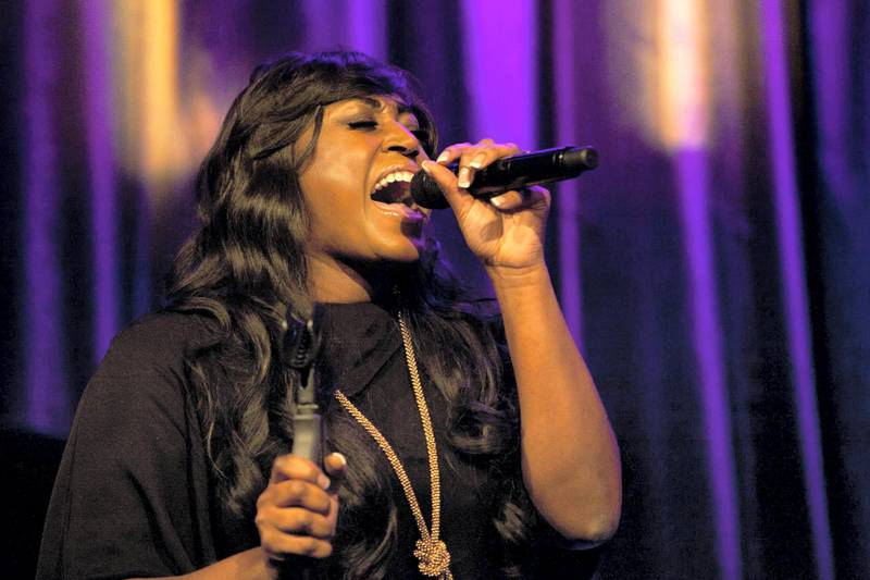 """LONDON, ENGLAND - APRIL 18:  Mica Paris performs at """"An Evening With Mitch Winehouse"""" in aid of the Amy Winehouse Foundation at The Hippodrome on April 18, 2014 in London, England.  (Photo by David M. Benett/Getty Images)"""