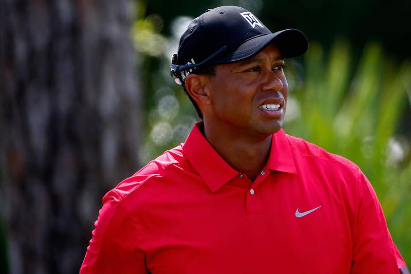 PALM BEACH GARDENS, FL - MARCH 02:  Tiger Woods looks on during the final round of The Honda Classic at PGA National Resort and Spa on March 2, 2014 in Palm Beach Gardens, Florida.  (Photo by Sam Greenwood/Getty Images)